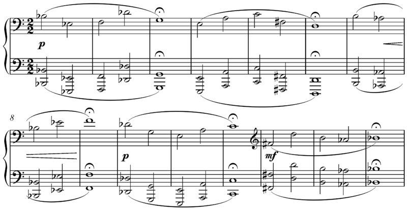 Hauer - Nomos Op. 19, beginning